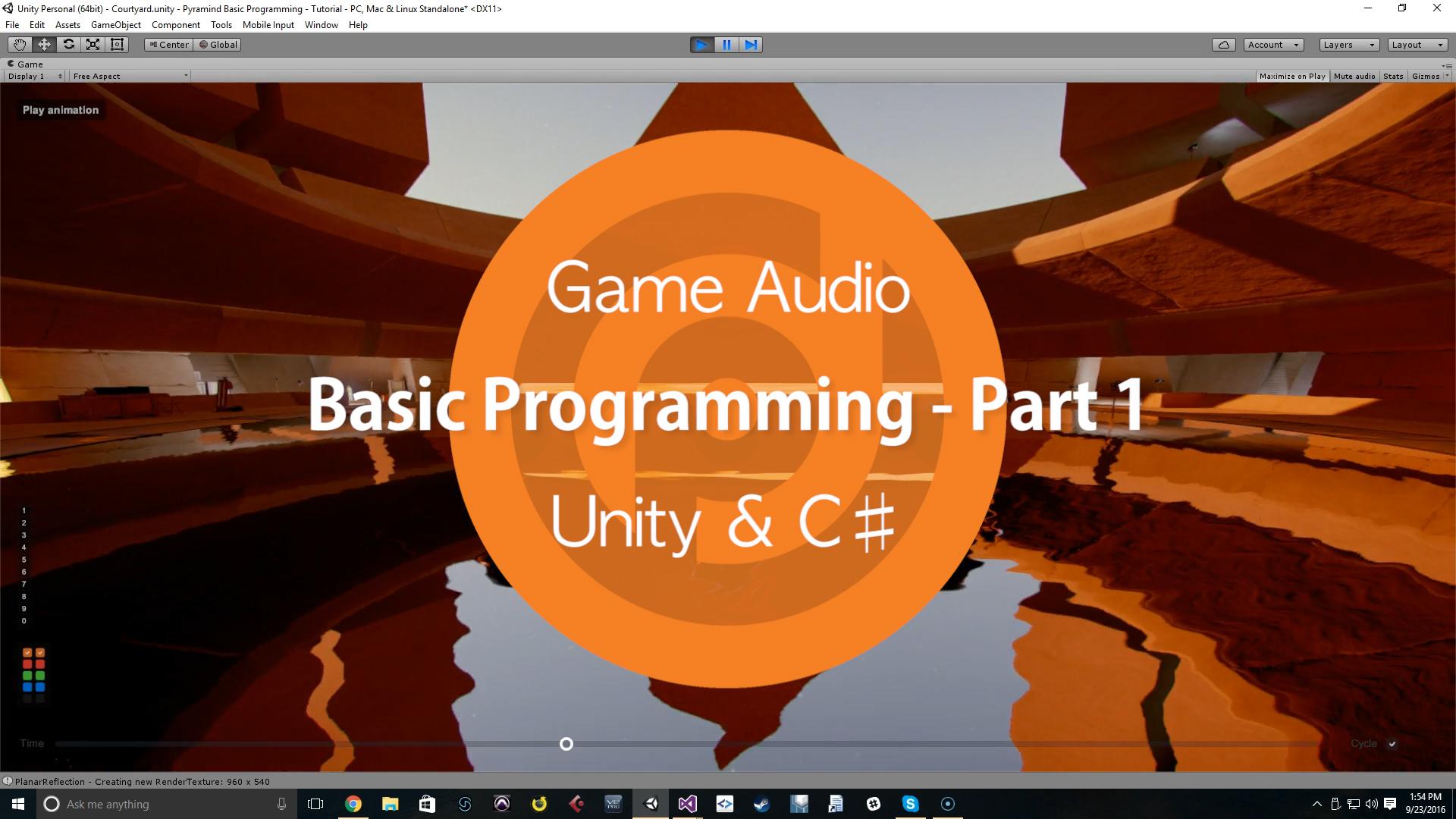 Game Audio | Basic Programming - Part 1 | Unity & C♯ - Pyramind