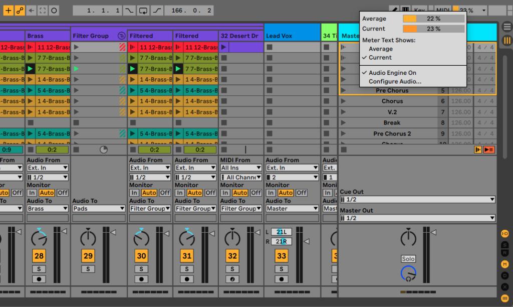 Ableton Live 11 - CPU Metering